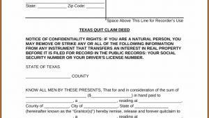 Quit Claim Deed Form Texas