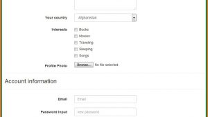 Registration Form Template Free Download Bootstrap