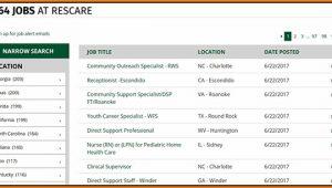 Rescare Job Application