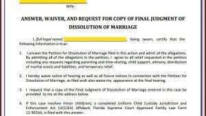 Respondent Divorce Forms Florida