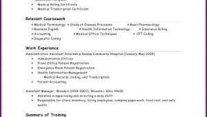 Resume For Entry Level Medical Billing And Coding