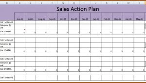 Sales Action Plan Template Excel
