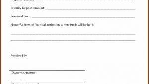 Security Deposit Invoice Template