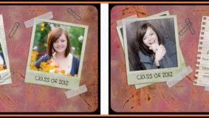 Senior Portrait Templates Photoshop