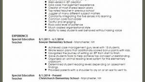 Special Education Teacher Resume Template Free