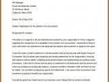 Template For Cover Letter For Job Application
