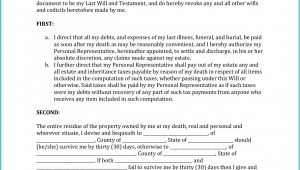 Texas Last Will And Testament Form Pdf