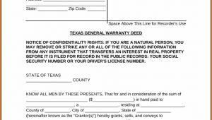 Texas Warranty Deed Form