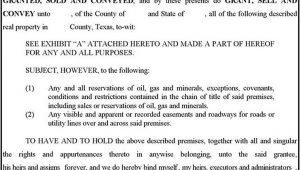 Texas Warranty Deed Form Free