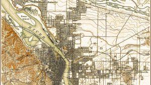Topographic Map Of Portland Oregon
