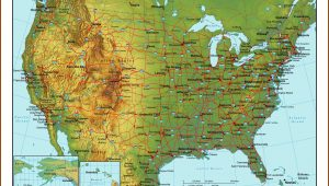 Topographic Map Of Usa With Highways