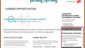 Tuesday Morning Application Online