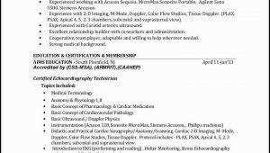 Ultrasound Tech Resume Template