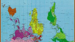 Upside Down World Map Peters Projection
