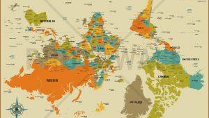 Upside Down World Map Wallpaper