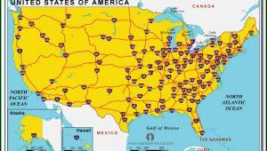 Us Map Showing Interstates