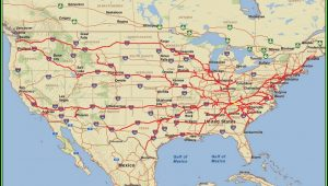 Us Map With Interstates And Cities