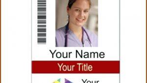 Vertical Name Badge Template