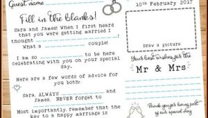 Wedding Guest Book Page Template