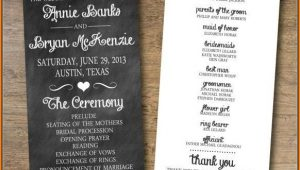 Wedding Pamphlet Template Free