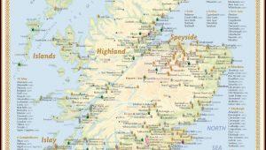 Whisky Distilleries Scotland Tasting Map