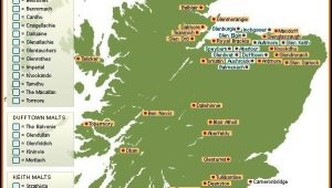 Whisky Distillery Scotland Map