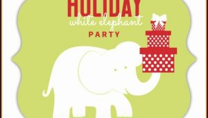 White Elephant Party Invitation Template