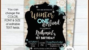 Winter Wonderland Birthday Party Invitation Template