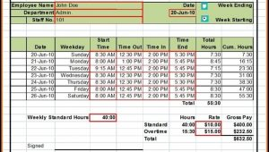 Word Templates For Timesheets
