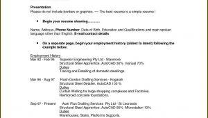 Writing Resume Format