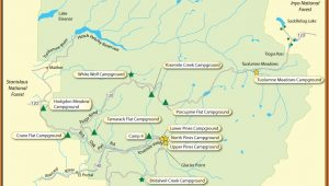 Yosemite National Park Campground Map