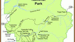 Yosemite National Park Lodging Map